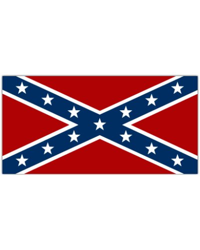 Army of Tennessee Confederate Battle Flag car magnet