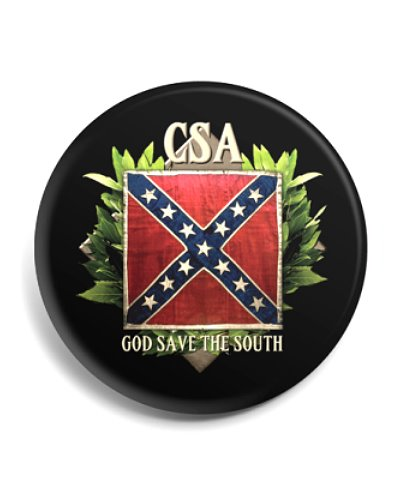 CSA God Save the South button