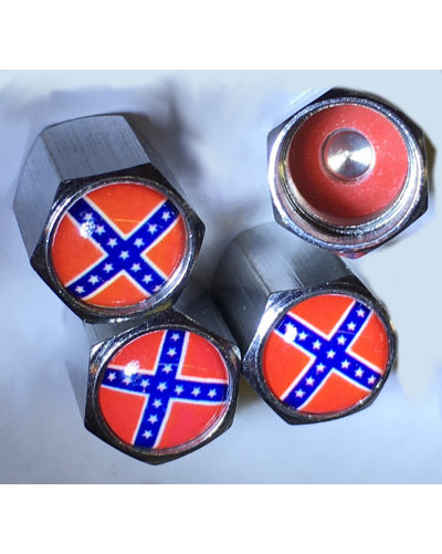 Confederate Battle Flag vehicle valve stem caps