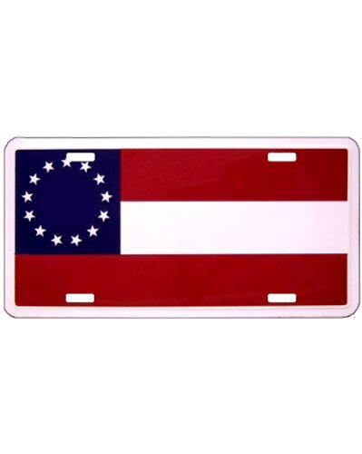 Confederate First National (13 star) car tag