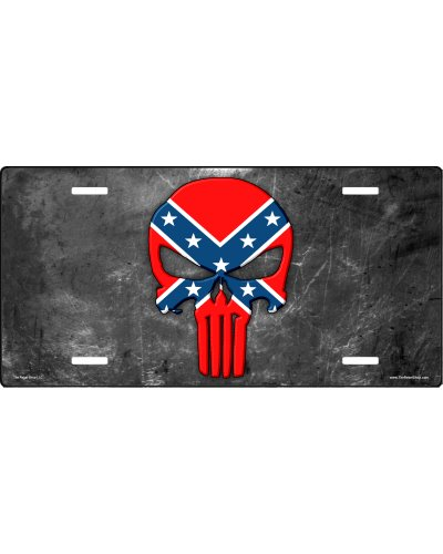 Confederate Punisher car tag