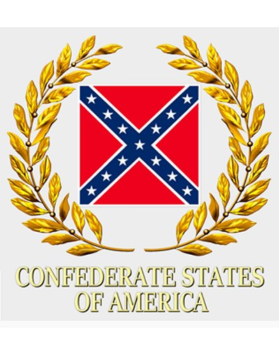 Confederate States of America Battle Flag clear sticker