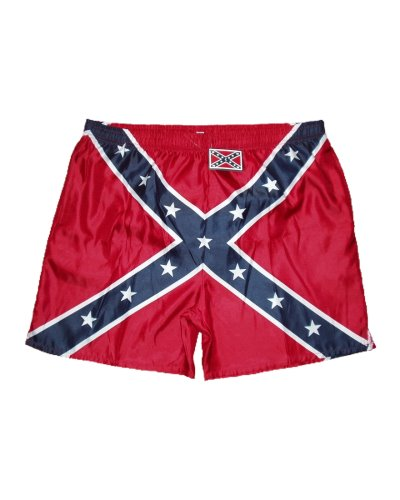 Confederate Battle Flag men's swim trunks