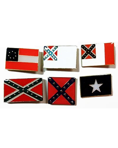 Flags of the Confederacy hat or lapel pin set