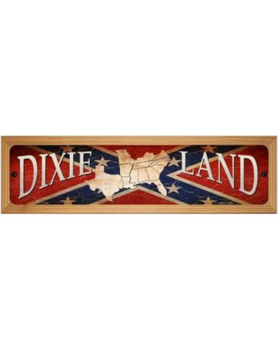 Dixie Land wood mounted sign