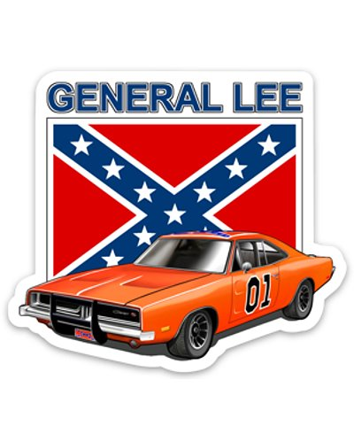 Dukes of Hazzard General Lee die-cut magnet