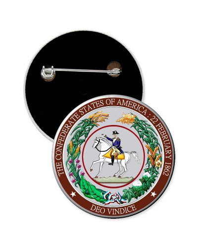 Great Seal of the Confederacy button