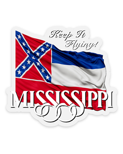 Keep It Flying Mississippi clear sticker