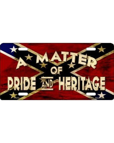 A Matter of Pride and Heritage no fade car tag