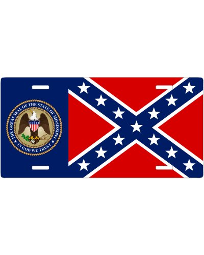 Mississippi Great Seal Confederate no fade car tag