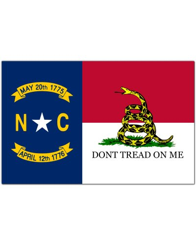 North Carolina Dont Tread On Me premium bumper sticker