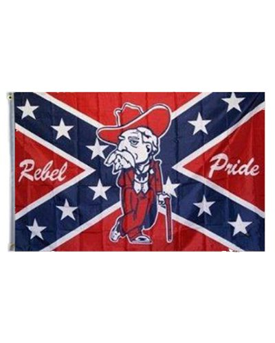 Rebel Pride Old Colonel printed polyester flag