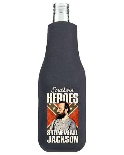 Southern Heroes Stonewall Jackson zippered bottle cooler