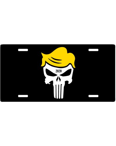 Trump Punisher 2020 limited edition car tag