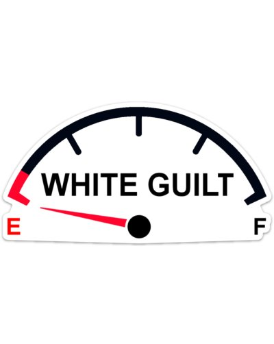 White Guilt on Empty car magnet