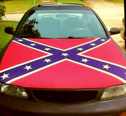 Confederate Flag vehicle hood cover